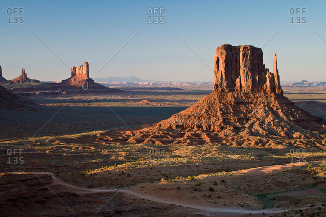 Landscape of monument Valley Navajo Tribal Park, Utah, USA