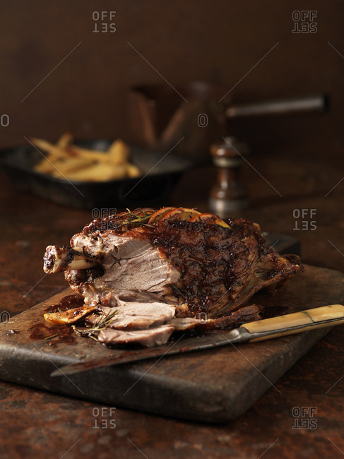 Carved slow roasted redcurrant & rosemary lamb