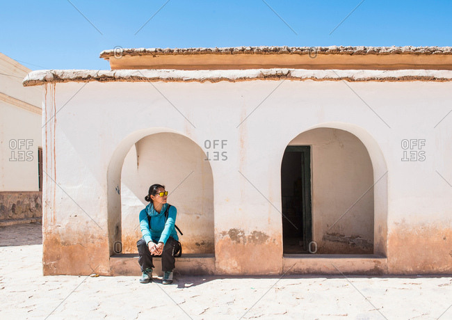 The small town of Purmamarca in Jujuy, Argentina, South America
