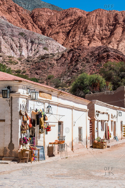 April 20, 2017: The small town of Purmamarca in Jujuy, Argentina, South America