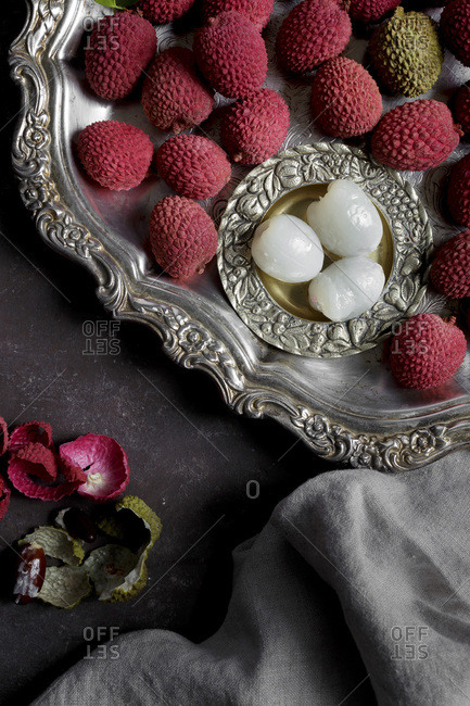 Litchis or Lychee, a traditional Chinese fruit