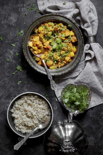 Kohlrabi and Potato Curry - Offset