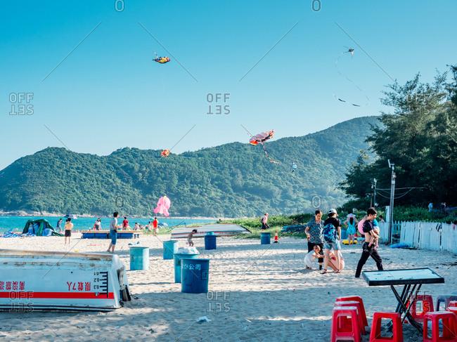 August 13, 2017: Beach in Shenzhen bay, Guangdong, China