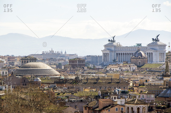 Italy- Rome- City view and Pantheon