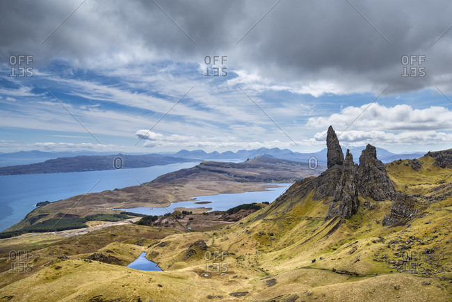 United Kingdom- Scotland- View of Storr