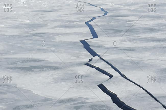 Antarctic Peninsula- Antarctica- Weddell Sea- Cracks in pack ice