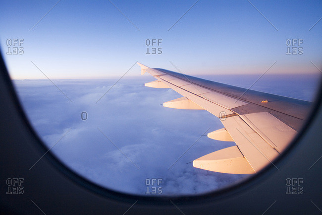 View out of airplane- aerofoil
