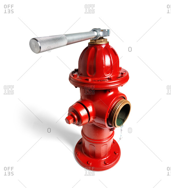 A fire hydrant in studio shot