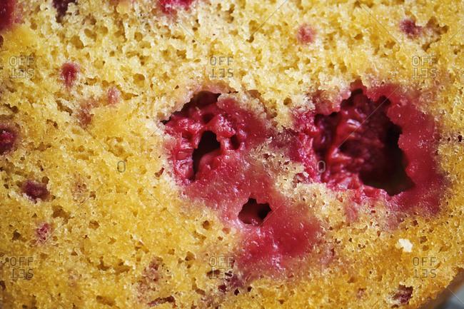 Close up of a raspberry cake