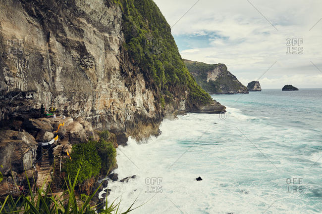 Cliffs along sea in Bali