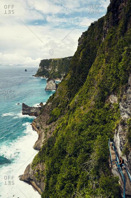 Cliffs overlooking sea in Bali