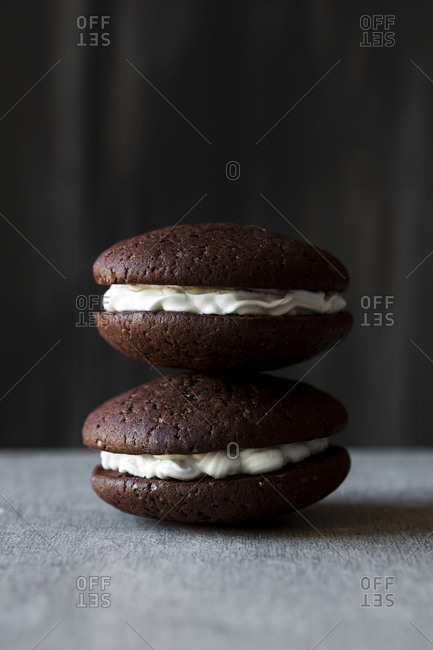Stacked whoopie pies