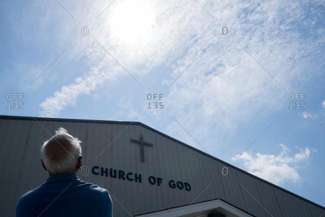 Eclipse watcher enjoying the total eclipse near De Soto, Missouri