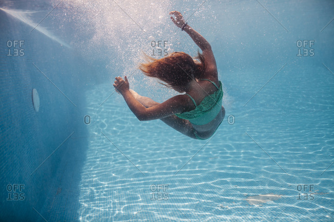 Underwater shoot with a young girl in Torremolinos, Malaga, Spain