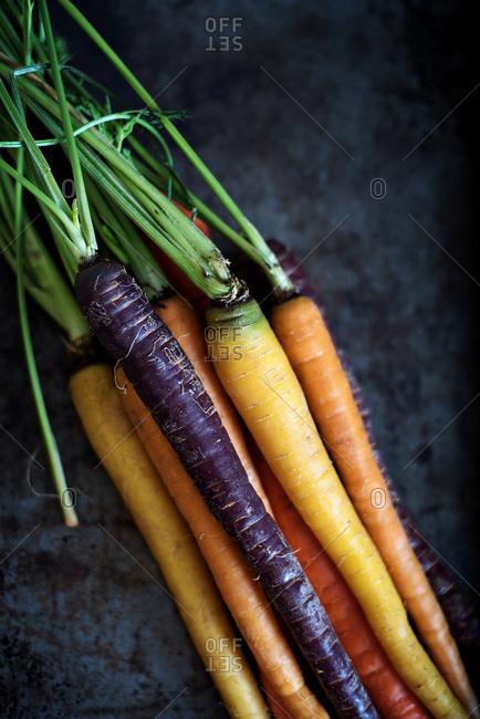 Bunch of rainbow carrots