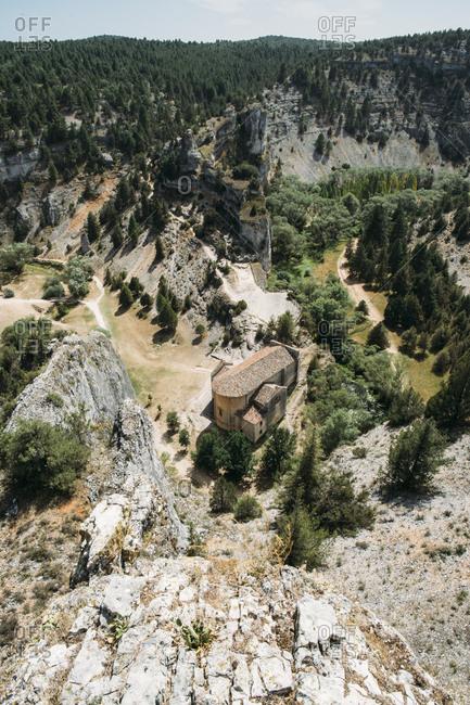Elevated view of old building in rural Spain