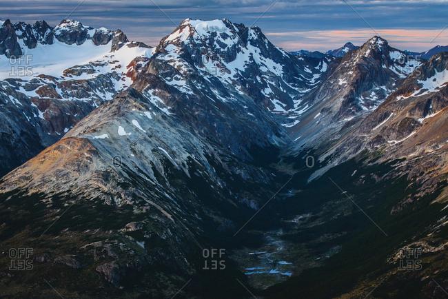 The Cordillera Darwin mountain ranges of Tierra del Fuego, near Ushuaia, Patagonia