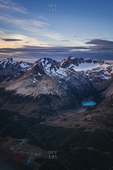 Cordillera Darwin mountain ranges of Tierra del Fuego, near Ushuaia, Patagonia