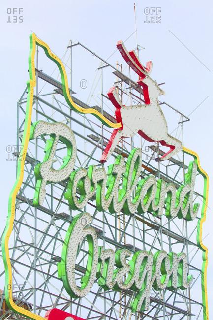 A sign for Portland, Oregon