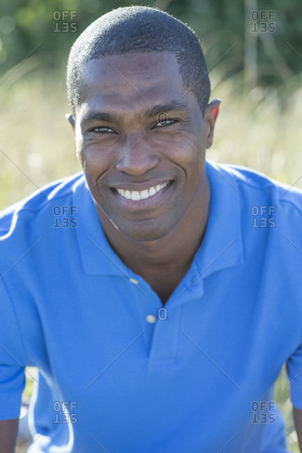 Portrait of smiling Black man