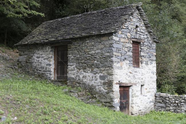 Stone house in hillside