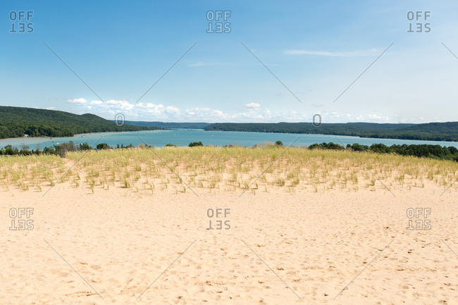 Beach along Glen Lake in Michigan
