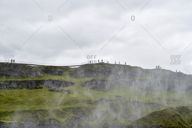 Mist at the Dettifoss waterfalls in Iceland