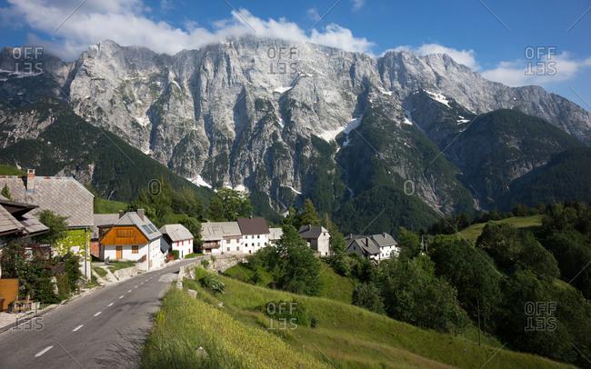 Slovenia, Bovec - June 6, 2014: The breathtaking view of the Mangart mountain in Bovec