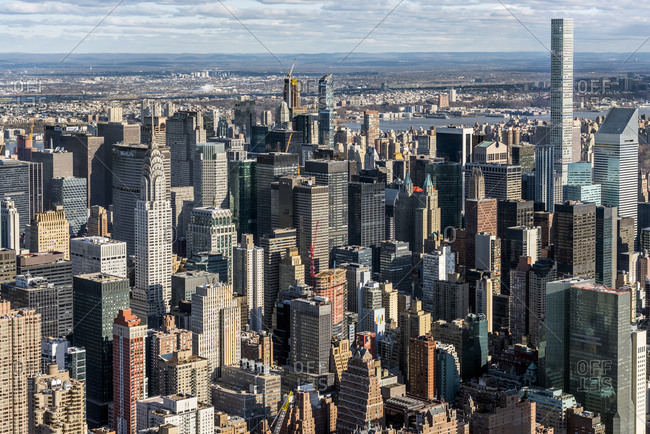 New York City, USA - April 8, 2017: Building in Midtown manhattan in New York city