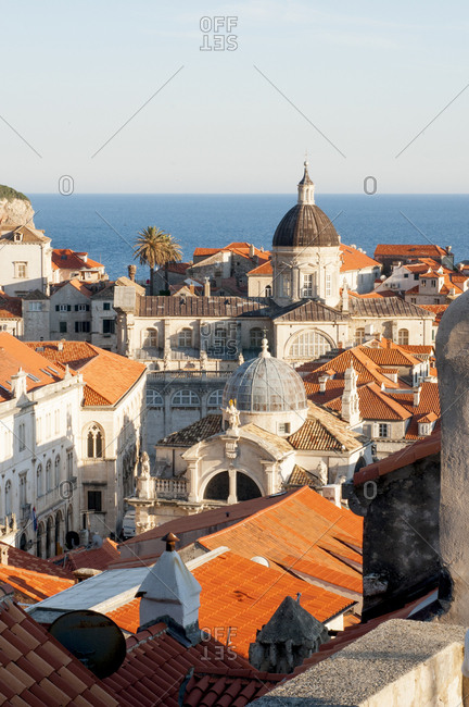 The walled city of Dubrovnik Croatia
