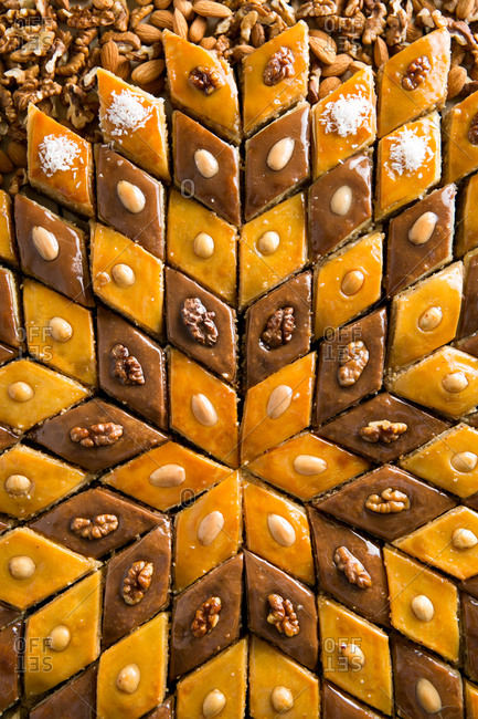 Baklava in a pattern