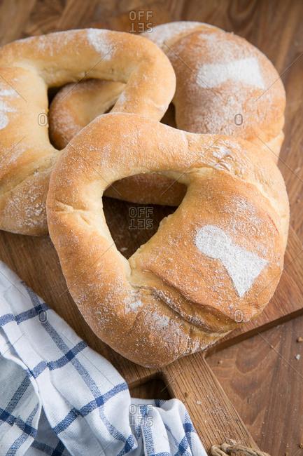 Bread shaped like locks