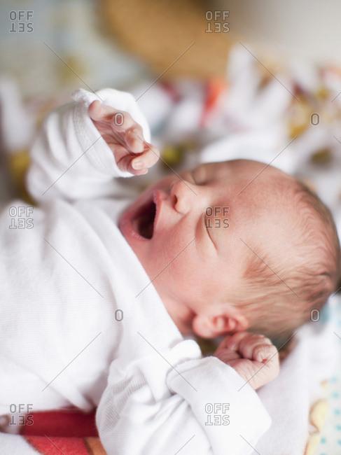 Portrait of newborn baby boy(2-5 months)