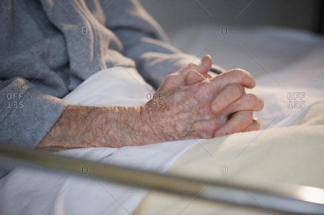 Close up of elderly man�s hands