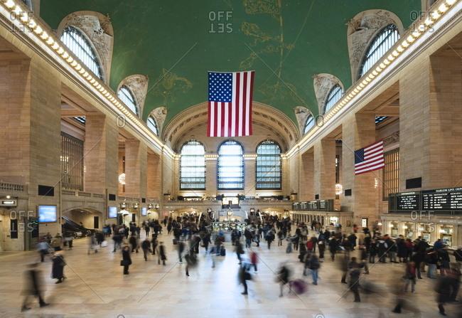 New York, NY, USA - March 13, 2009: Grand Central Station interior, New York City, New York, USA