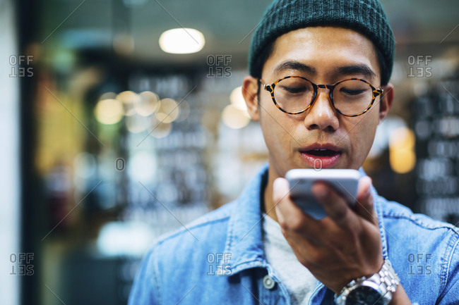 Man talking on smart phone