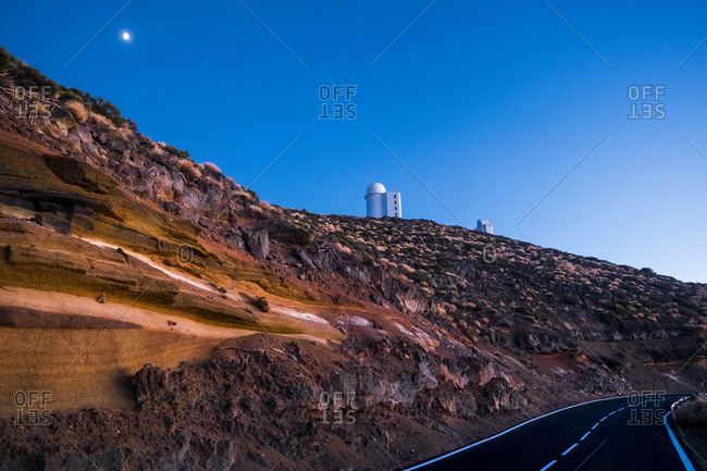 Observatory on hill in Canary Islands, Spain