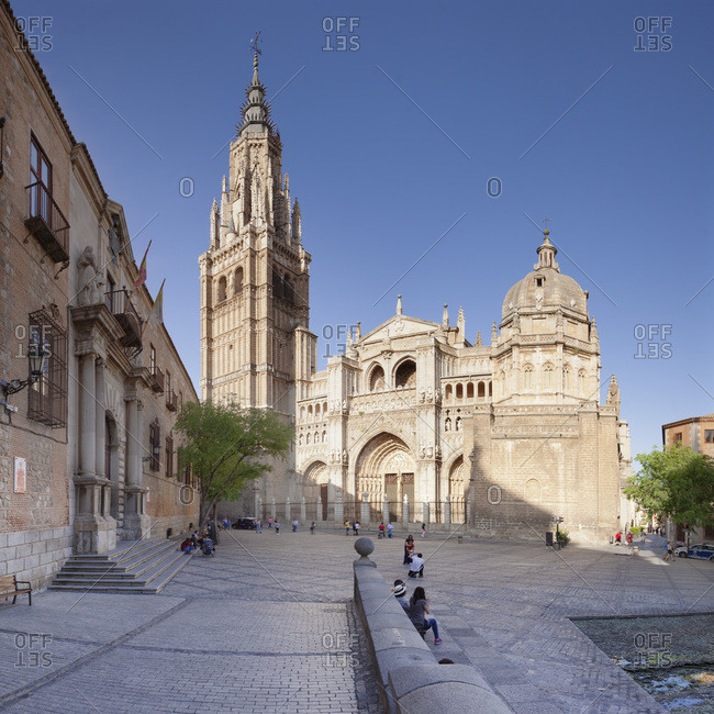 April 18, 2017: Santa Maria Cathedral, UNESCO World Heritage Site, Toledo, Castilla-La Mancha, Spain, Europe