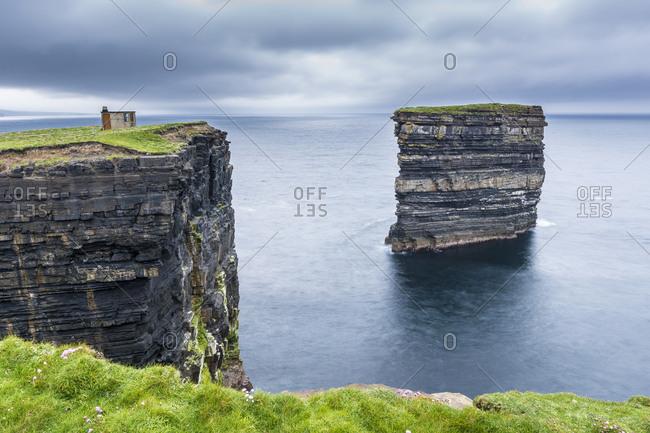 Downpatrick Head, Ballycastle, County Mayo, Connacht province, Republic of Ireland, Europe