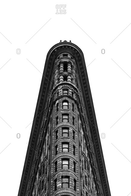 "New York, NY, USA - December 28, 2015: The Flatiron Building which has been called ""one of the world's most iconic skyscrapers and a quintessential symbol of New York City"""