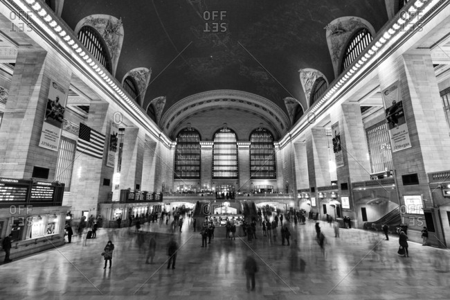 New York, NY, USA - December 28, 2015: Grand Central Terminal is a commuter, rapid transit railroad terminal at 42nd Street and Park Avenue in Midtown Manhattan