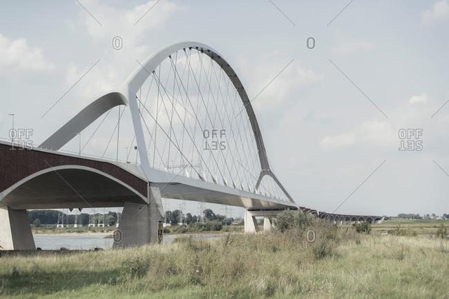 New bridge over river the Waal in Nijmegen, Gelderland, the Netherlands