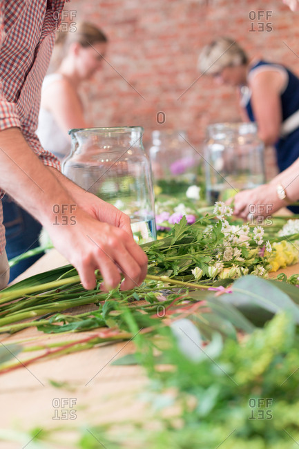 A flower arranging workshop