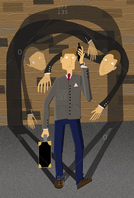 Conceptual illustration of corporate crime