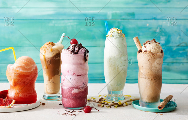 Milkshakes, floats and malts