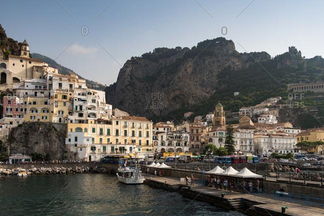 Capri, Italy - July 24, 2017: A view along the coast
