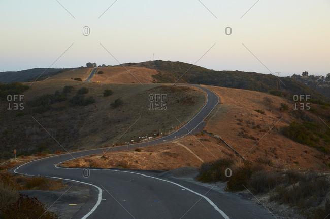 Highway along a ridge in California