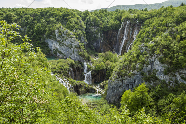 Waterfalls in forest - Offset Collection