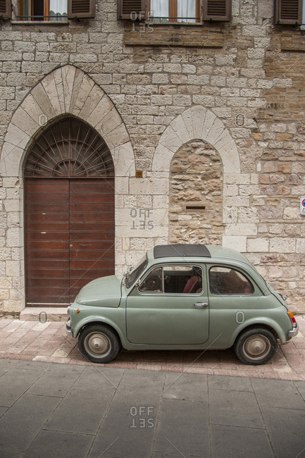 Assisi, Umbria, Italy - June 17, 2016: Via Metastasio