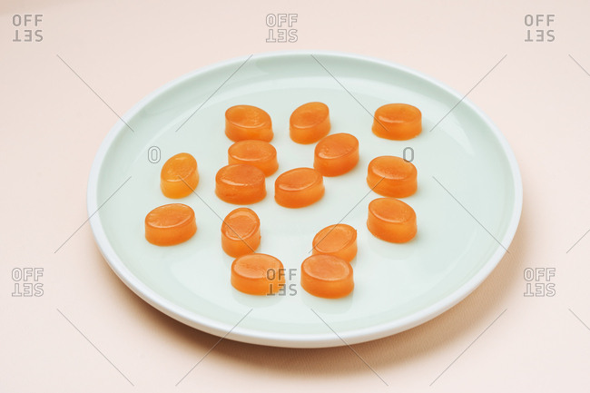 Jelly candies on a plate
